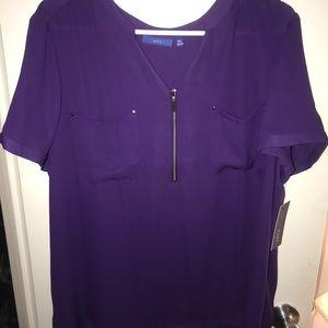 Women's Apt 9 short sleeve blouse XXL NWT